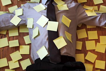 Adhesive note reminder overload