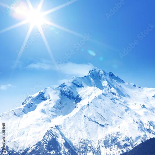 Fototapete Alphütte - Alps - Hochgebirge