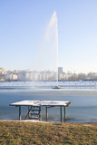 Belgrade water fountain poster