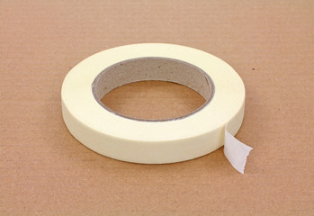 Single roll of masking tape