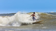 muscular surfer