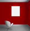 Interno con tela e sedia