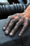 dirty,mechanic,hand,human,reparing,engine poster