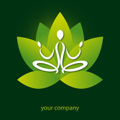 logo entreprise, logo yoga, lotus