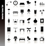 Interior icons set