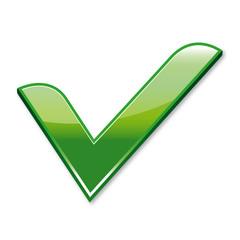 icône validation, vert, v