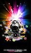 Abstract Music Disco Flyer Background for special night events