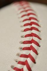 Close Up Vertical of New Baseball