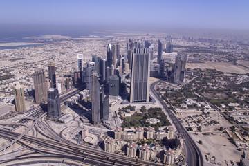 View of Dubai from the Burj Khalifa, UAE