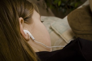 Girl With Ear Buds