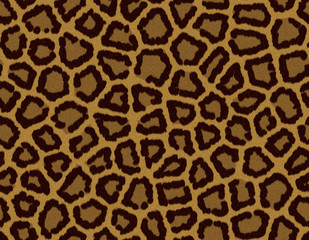 Seamless tile leopard fur background