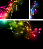 Fototapety Abstract Rainbow Lights Business Cards