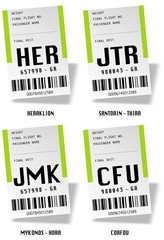 Airport bag tags - Iles grecques