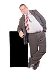 jolly fat businessman ..