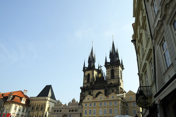 The Church of Our Lady before Týn  in Prague Czech Republic