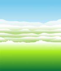 Абстрактный зеленый луг
