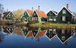 typical dutch houses at Zaanse Schans