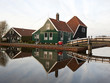 Typical reflected dutch houses at Zaanse Schans