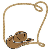 cowboy hat with rope