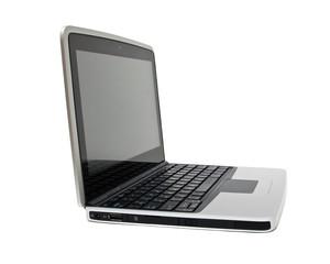 Single netbook (laptop) on a white background