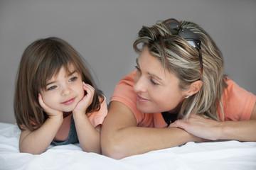 mère et fille sourire