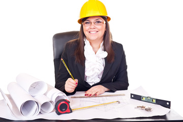 architect woman working