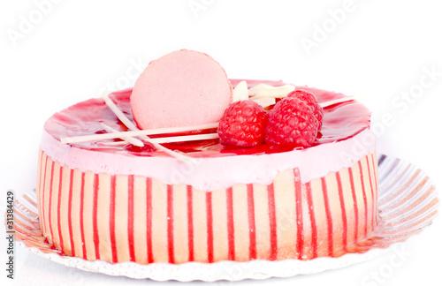 Papiers peints Macarons gâteau aux framboises