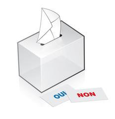 référendum, urne pour le vote et les élections en France