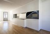 beautiful modern loft duplex , kitchen view poster