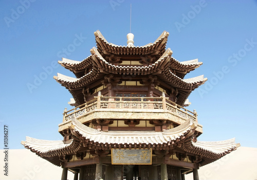 Chinese ancient wooden tower