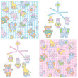 Seamless pattern and mobile for baby  boy and girl design.