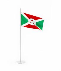 3D flag of Burundi