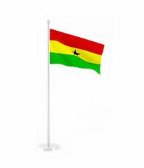 3D flag of Ghana