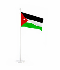 3D flag of Jordan