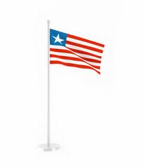 3D flag of Liberia