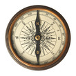 Leinwanddruck Bild - Antique Compass