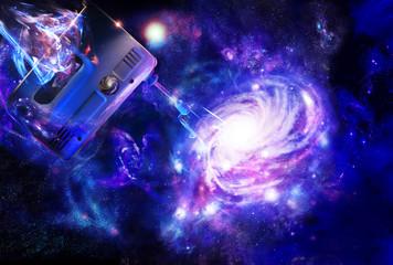 Creation of a spiral galaxy