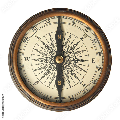 Leinwanddruck Bild Antique Compass