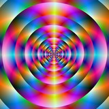 Psychedelic Concentric Rings poster