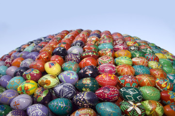 Decoration of Easter eggs.