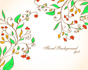 Floral background. eps8