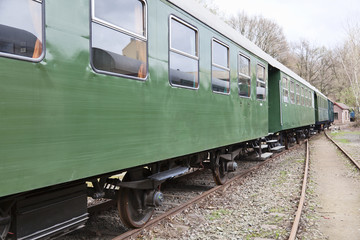 Old passenger wagons