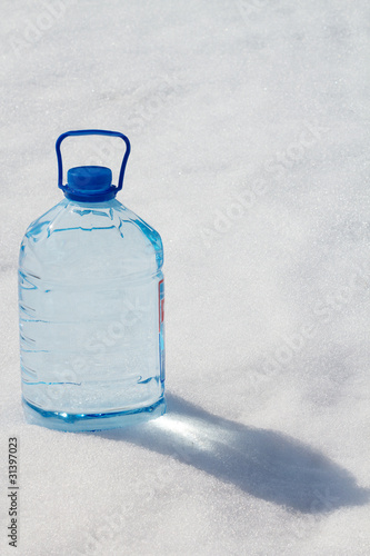 Bottle  water  transparent  pure