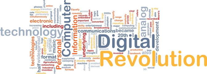 Digital revolution background concept