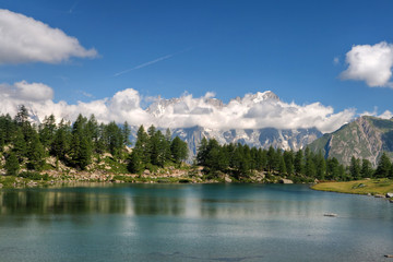Arpy lake, Aosta Valley, Italy
