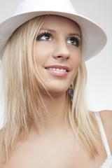 beautiful smile blond girl