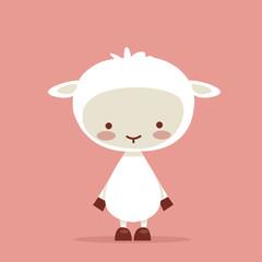 Cute lamb character, vector illustration