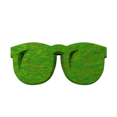 3d glasses in grass