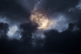 Stormy full moon night