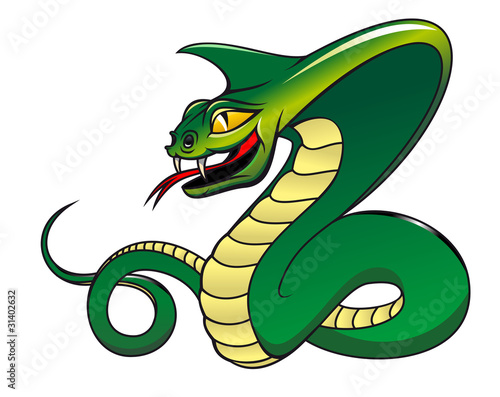 Danger green cobra